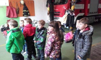 Návštěva u hasičů
